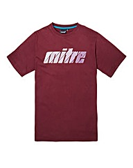 Mitre Burgundy Graphic T-Shirt Long