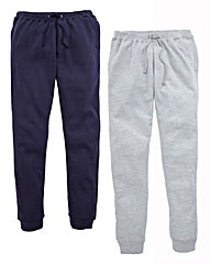 JCM Sports Pack of Two Fleece Joggers 27