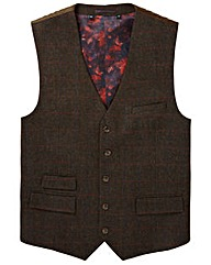 Black Label Checked Tweed Waistcoat L