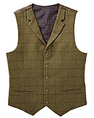 Black Label Checked Waistcoat Long