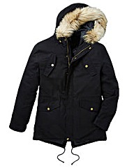 Label J Faux Fur Trim Parka Regular