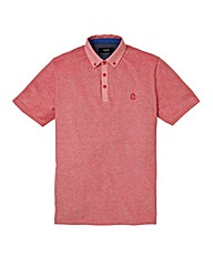 Black Label Holmes Marl Pique Polo Long