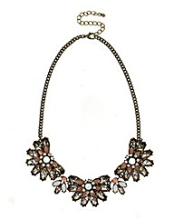 Multi Flower Statement Necklace