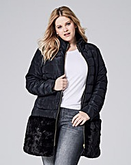 Faux Fur Trim Jacket