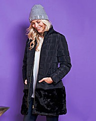 Faux Fur Trim Jacket