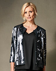Sequin Edge To Edge Jacket