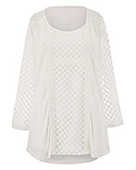 Joanna Hope Patchwork Jersey Top