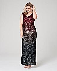 Joanna Hope Ombre Sequin Maxi Dress