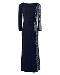 Joanna Hope Sequin Panel Maxi Dress
