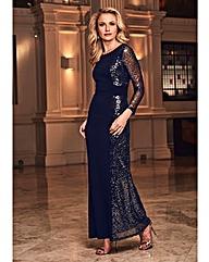 Joanna Hope Sequin Panel Maxi Dress
