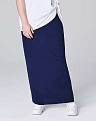 CREPE MAXI TUBE SKIRT