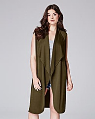 Waterfall Crepe Duster Jacket
