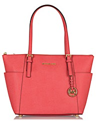 Michael Kors Js Pocket Tote Bag Pink