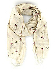 Silky Floral Scarf
