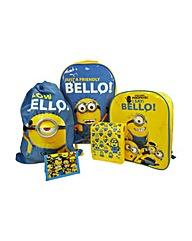 Minions 5 Piece Luggage Set - Yellow.