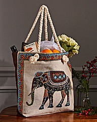 Tapestry Style Elephant Bag