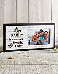 Light Up Family Butterfly Frame