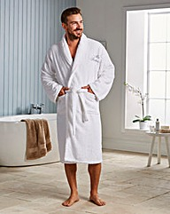 Personalised White Spa Bathrobe