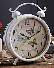 Metal Butterfly Alarm Clock