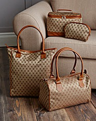 Four Piece Jacquard Travel Bag Set