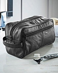 Patchwork Leather Wash Bag