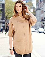 Nightingales Roll Neck Batwing Sweater
