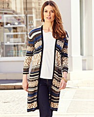 Nightingales Long Line Cardigan