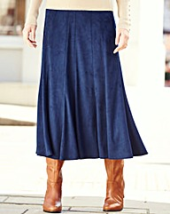 Nightingales Suedette Panelled Skirt