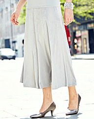 Nightingales Suedette Panelled Skirt