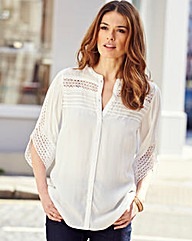 Nightingales Crochet Detail Blouse