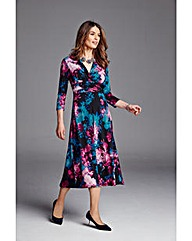 Nightingales Exclusive Print Wrap Dress