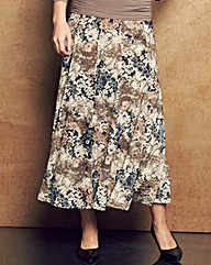 Nightingales Floral Panelled Skirt L32in