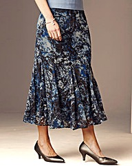 Nightingales Godet Chiffon Skirt