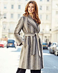Nightingales Chevron Wrap Coat
