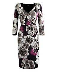 Grace Floral Wrap Print Dress