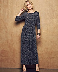 Nightingales Metallic knot Maxi Dress