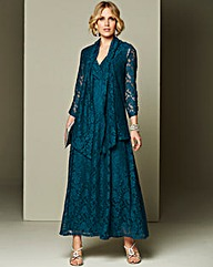 Nightingales Lace Maxi Dress and Shrug