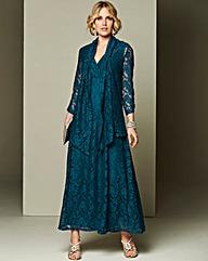 Nightingales Lace Maxi Dress and Shrug