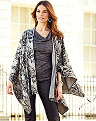 Nightingales Animal Print Cape