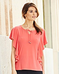 Nightingales Ruffle Sleeve Top