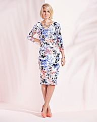 Nightingales Cowl Neck Printed Dress