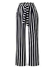 Stripe Wide-Leg Jersey Trousers Short