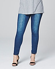 Denim Look Leggings - Short