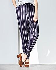 Stripe Woven Trousers Short