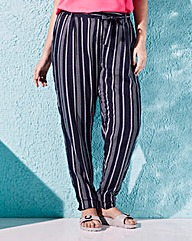 Stripe Woven Trousers Regular
