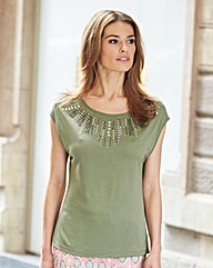 Nightingales Embellished T-Shirt