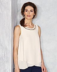 Nightingales Embellished Neck Blouse