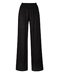 Crinkle Wide Leg Trouser - Short