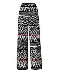 Shirred Waist Wide Leg Trouser Regular
