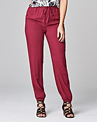 Woven Harem Trousers - Long